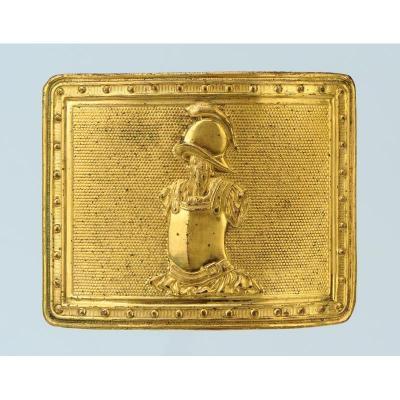 Plaque De Ceinturon d'Officier Du GÉnie, ModÈle De VendÉmiaire An XII (1804), Premier Empire