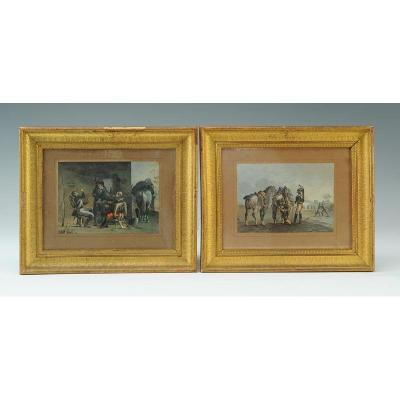 Jolly Colonel Louis-claude: Original Gouaches, Military Scenes Of The First Empire