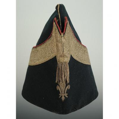 Police Cap Of Small Dress Of Officer Of The Company Of Puysegur (second Company)