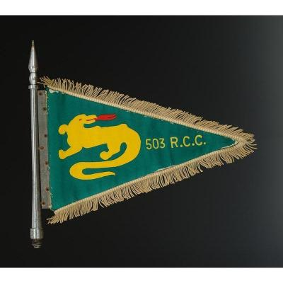 Car Flag Of An Officer Of The 503rd Tank Regiment, Fourth Republic.