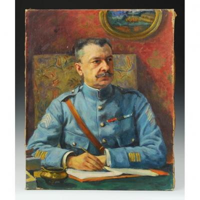 Jean Plumet, Portrait Of An Infantry Colonel 1920: Oil On Canvas, First World War