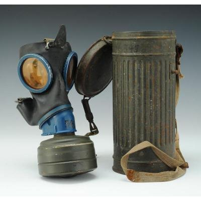 German Gas Mask, Gasmaske, Model 1938, Wwii.