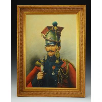 Dutch Lancers Officer: Oil On Canvas, First Empire.