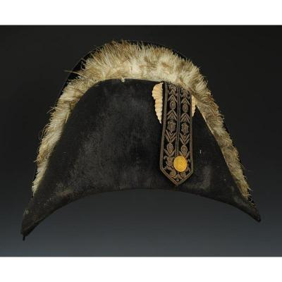 Bicorne Hat Of Grand Uniform Of Chambellan De La Couronne, Restoration (1814-1830)