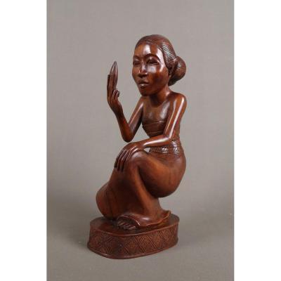 Sculpture Sur Bois, Indonesie, Bali Vers 1930.
