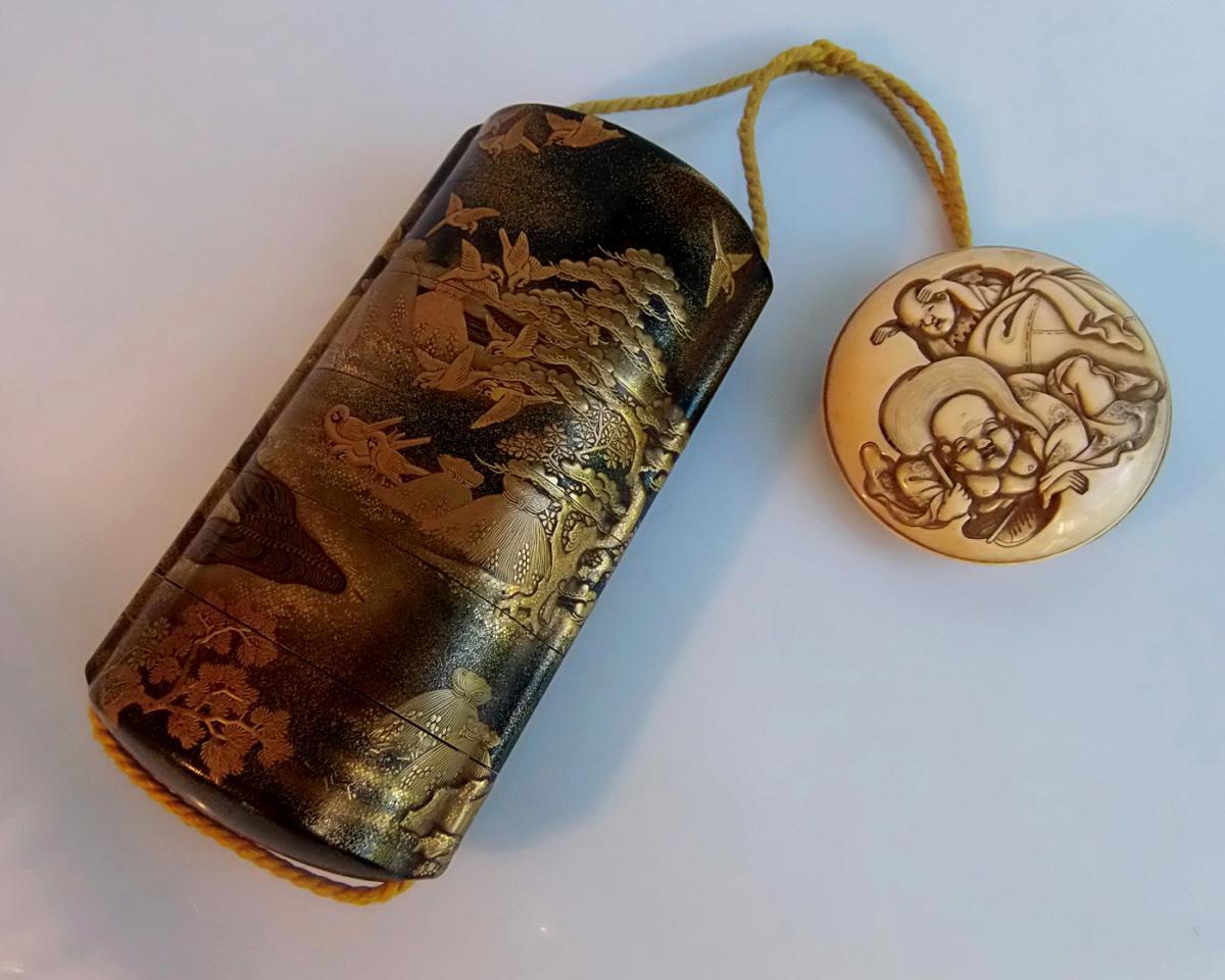 INRO JAPON période Edo (1603-1868) Kajikawa et Ko-Rin (act c.1831- c.1900)