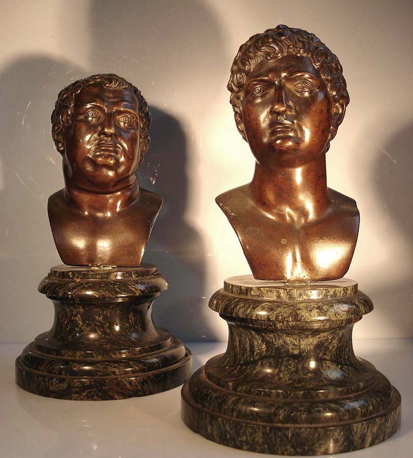 2 Busts Roman Emperors Of Which Vitellius - Period Renaissance Italy North