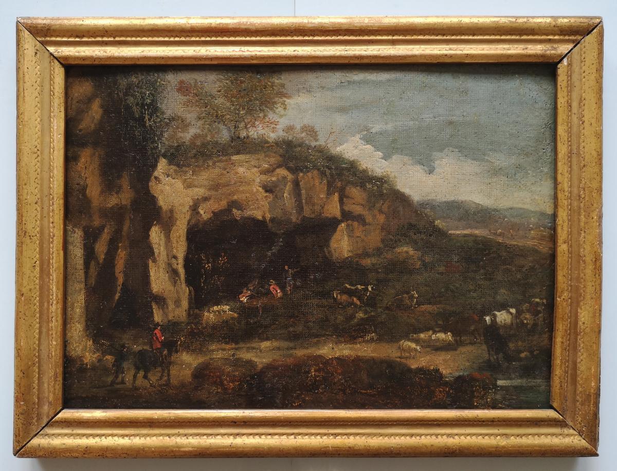 "School XVIII ""shelter Shepherds"" Landscape Of Italy 29 X 41 Cm"