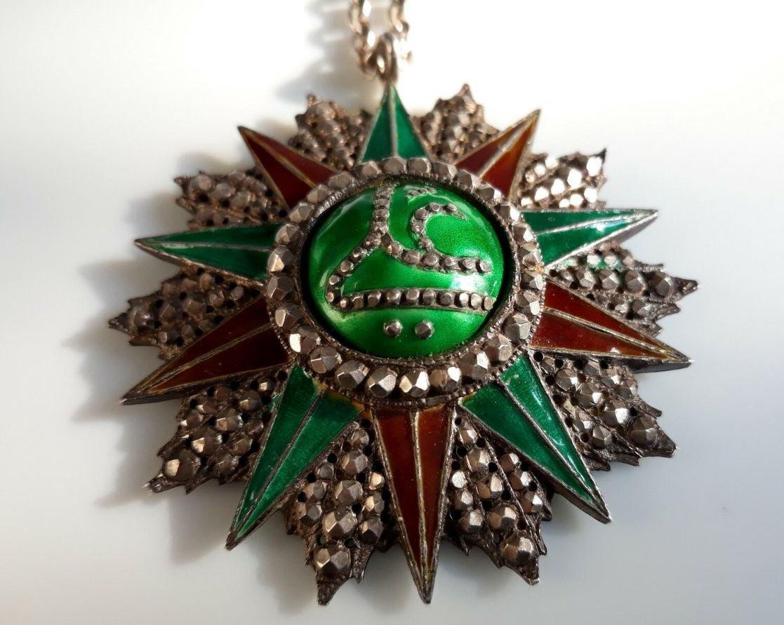 Médaille Offerte Par Bey De Tunis Ordre Tunisien Du Nichan Iftikhar Ali Bey-photo-1