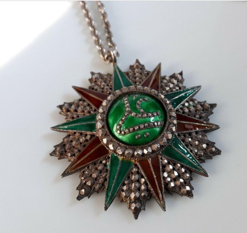 Médaille Offerte Par Bey De Tunis Ordre Tunisien Du Nichan Iftikhar Ali Bey-photo-3