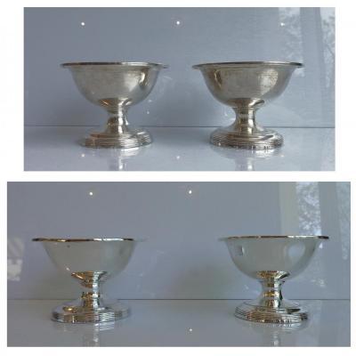 XVIII Four Salieres Silver And Vermeil London 1794.278 Gr