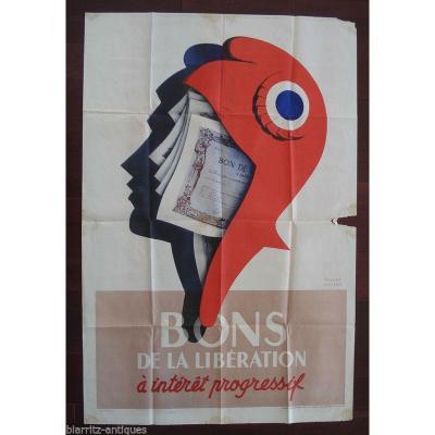 Roland Ansieau 1901-1987 - Bons De La Libération De 1945 - Dim 112 Cm X 76