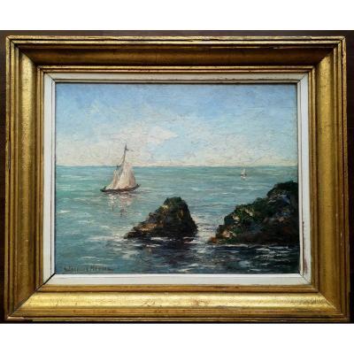 HSP Jakob MADIOL dit Jacques MADYOL 1871 1950  Voilier près des côtes