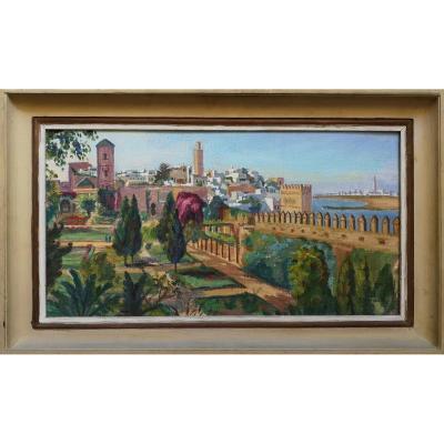 Solange Monvoisin 1911 – 1985 Remparts De Rabat - Hst Années 30