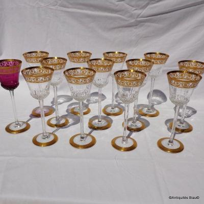 Roemers Hocks Crystal St Louis Thistle Gold Crystal