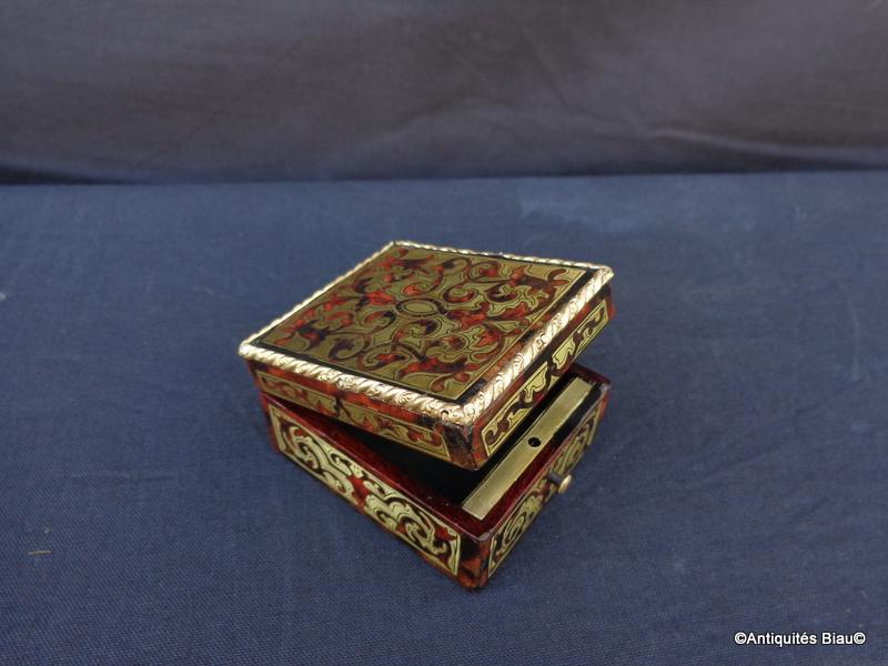 Small Jewelry Box In Boulle Marquetry All Faces Napoleon III Period-photo-4