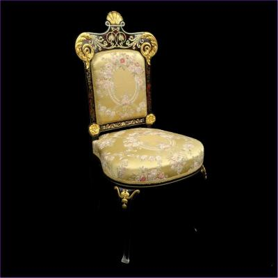 Stamped  Jacob Chair In Boulle Marquetry Napoleon III Period