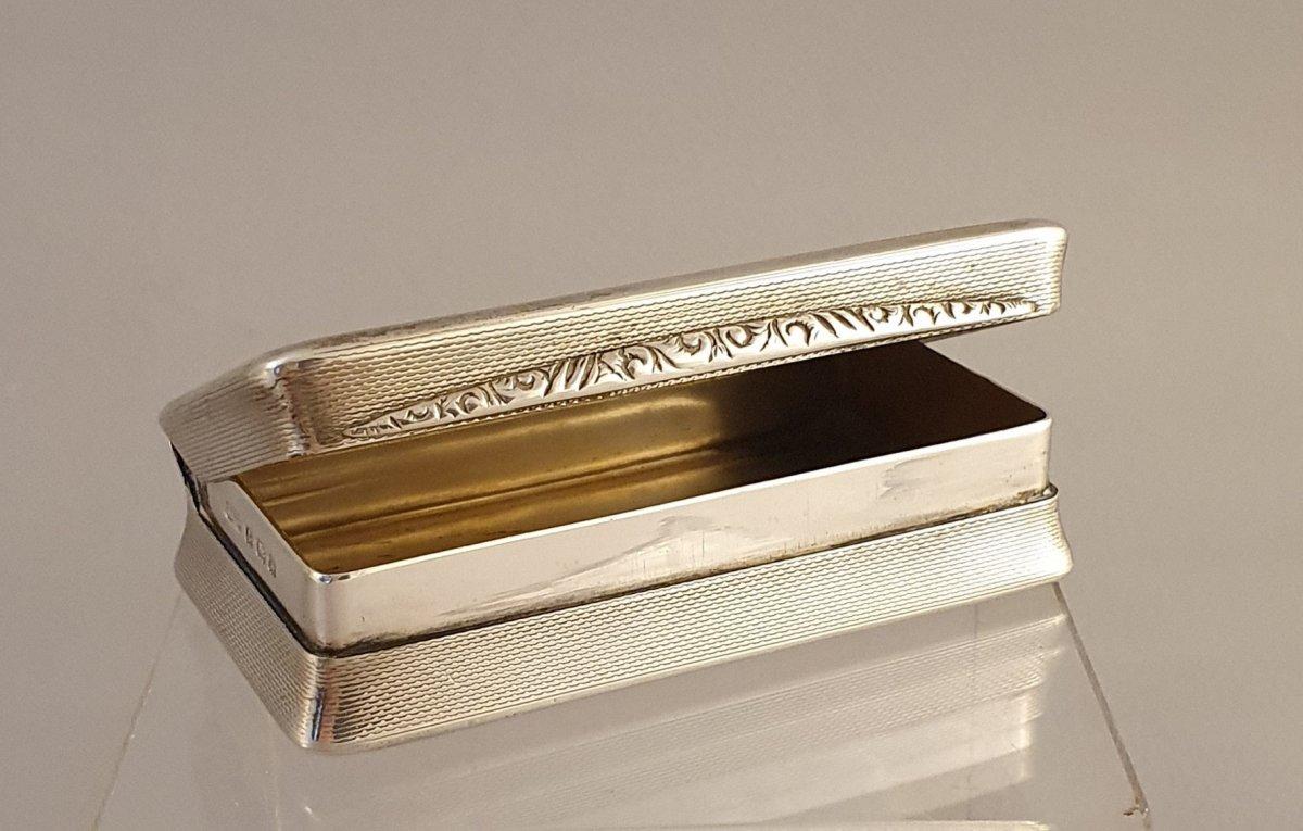 Silver Snuff Or Silver Box - English Work 1934