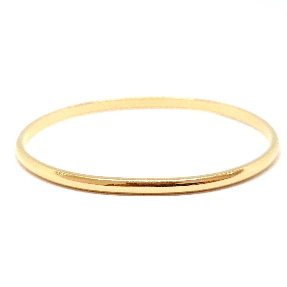 18k Yellow Gold Rigid Bangle Bracelet-photo-2