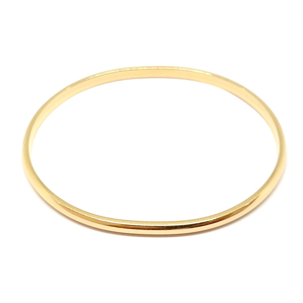 18k Yellow Gold Rigid Bangle Bracelet-photo-3