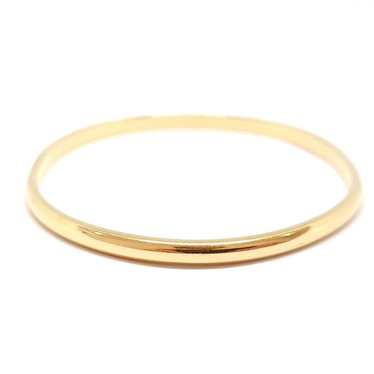 18k Yellow Gold Rigid Bangle Bracelet-photo-4