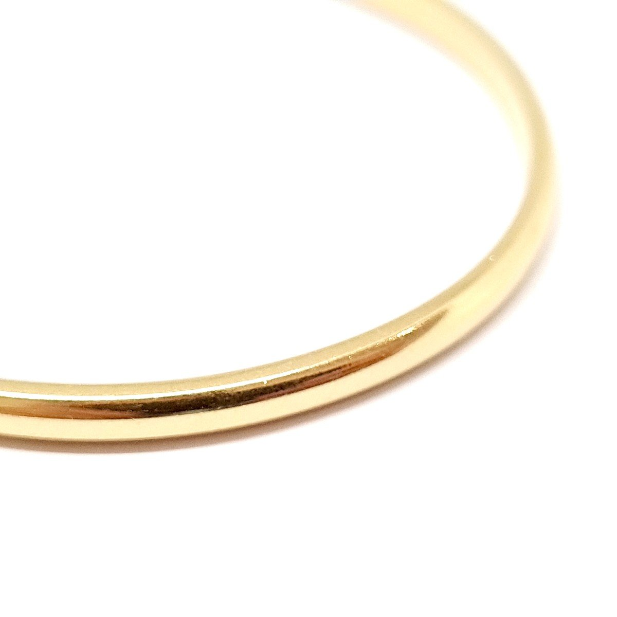 18k Yellow Gold Rigid Bangle Bracelet-photo-1