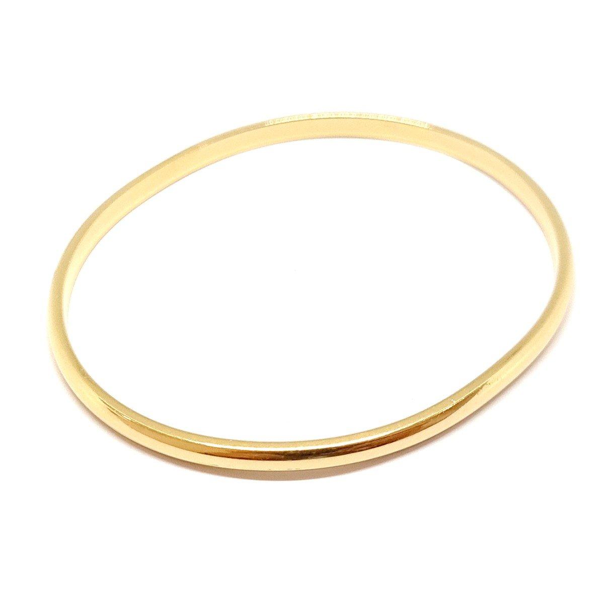 18k Yellow Gold Rigid Bangle Bracelet