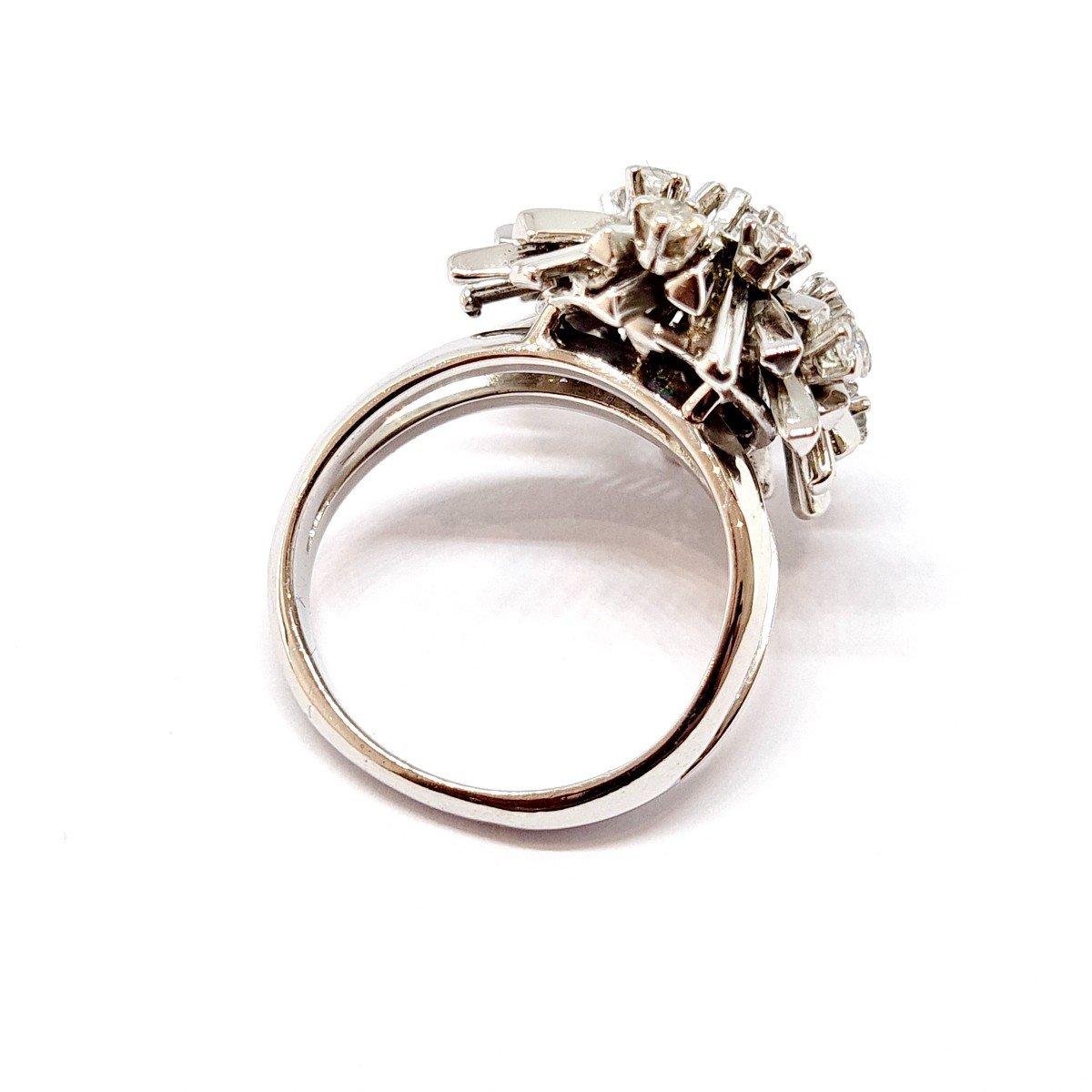 Bague Ancienne Or Blanc 18 Carats Diamants-photo-1