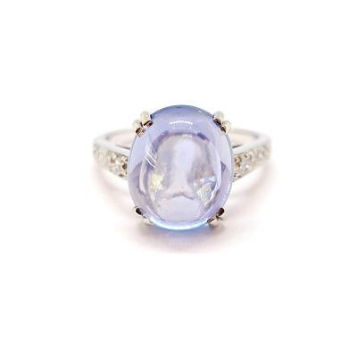 Bague Ancienne Platine 900/1000 Saphir Diamants