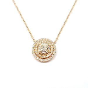 Collier Or Rose 18 Carats Diamants