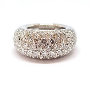 Bague Jonc Or Blanc 18 Carats Diamants