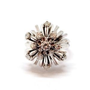 Old 18k White Gold Diamond Ring