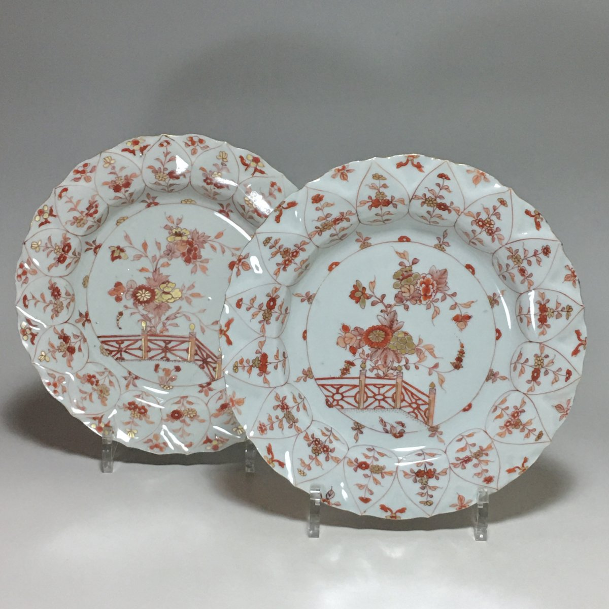 """China - Pair Of Plates Called """"milk And Blood"""" - Kangxi Period (1662-1722)"""