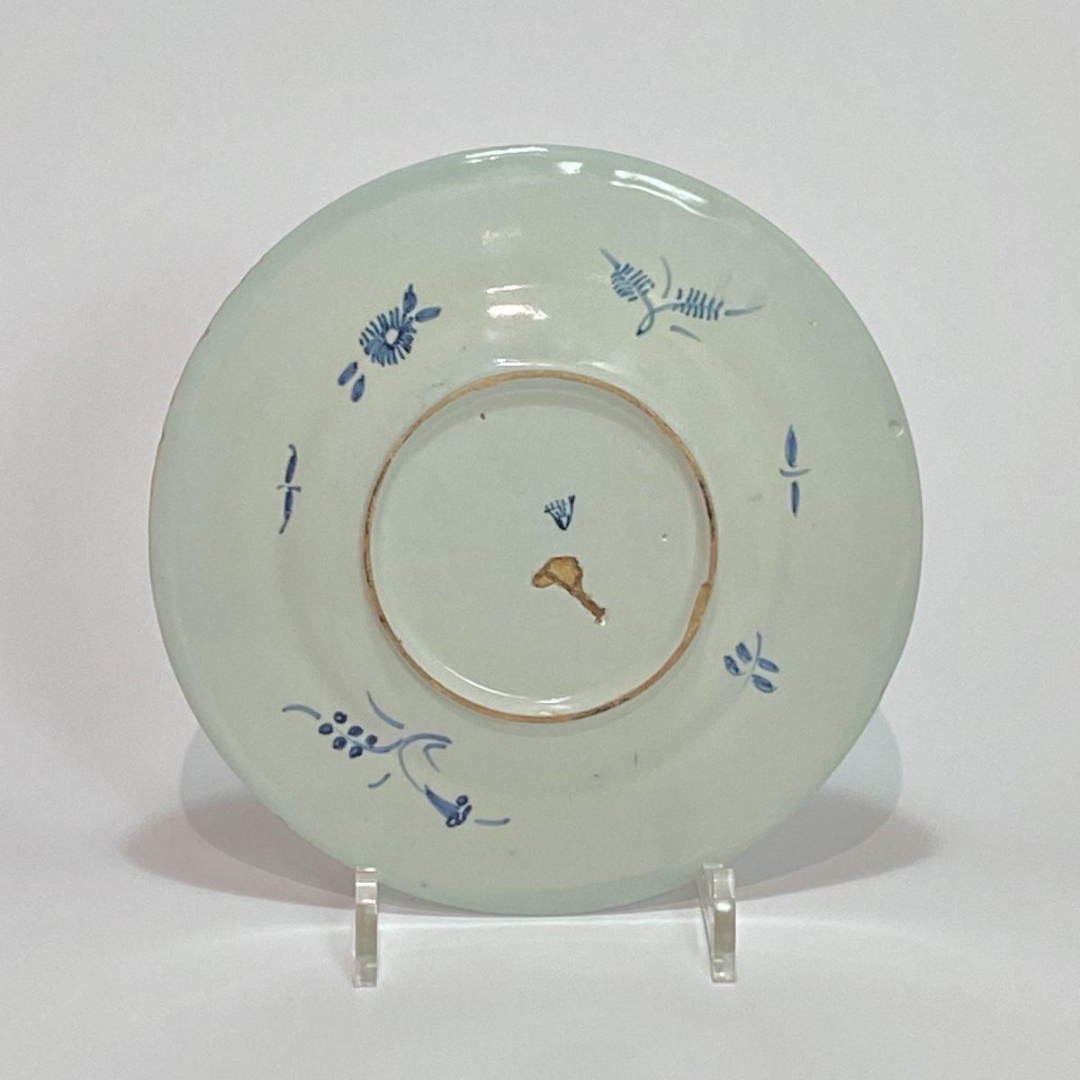 Savone - Assiette à décor d'un oiseau - Fin du XVIIe - Début du XVIIIe siècle-photo-2