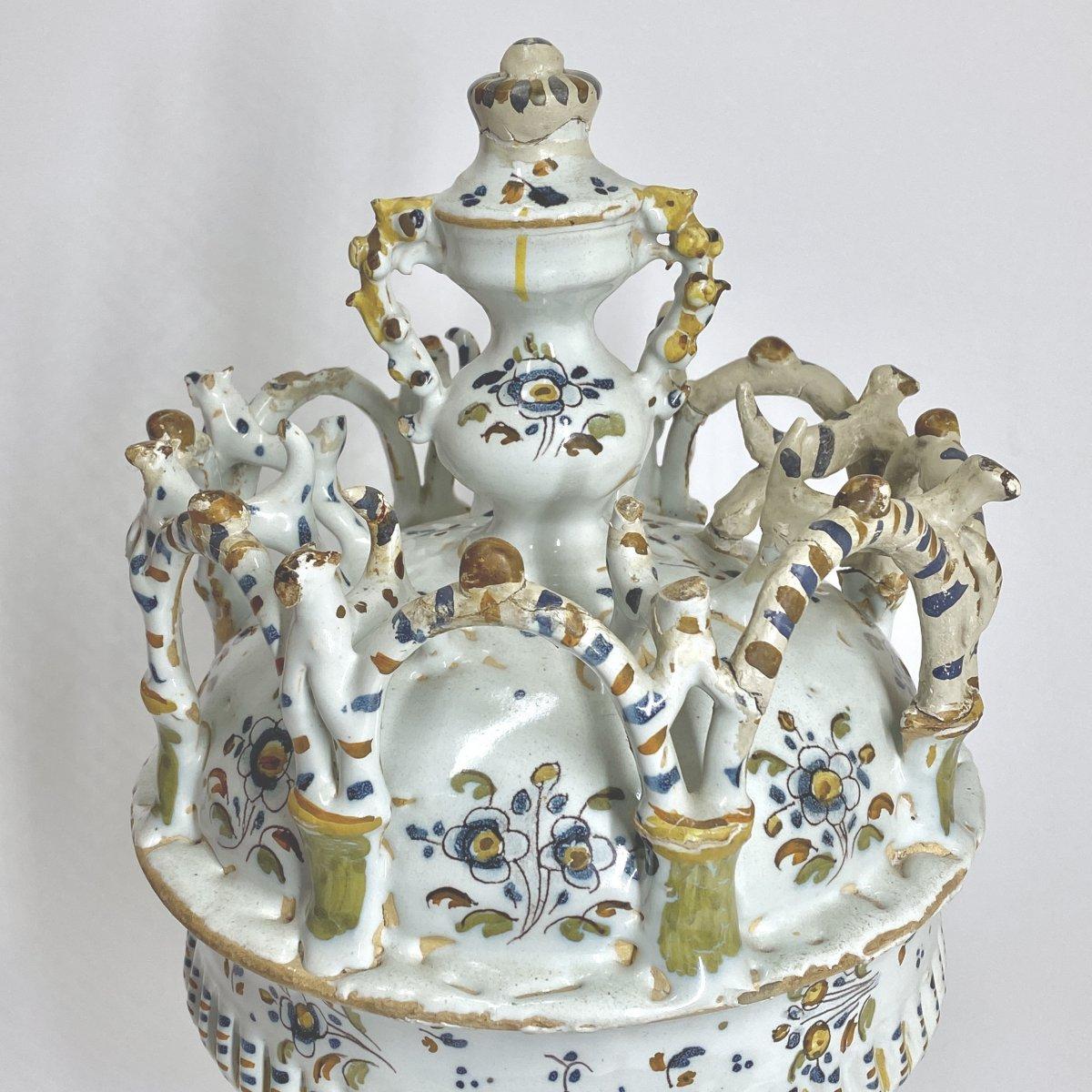 Grande coupe de baptême en faïence Espagnole - XVIIIe siècle-photo-3