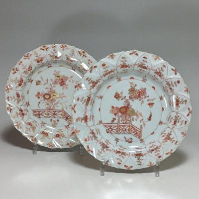 "China - Pair Of Plates Called ""milk And Blood"" - Kangxi Period (1662-1722)"