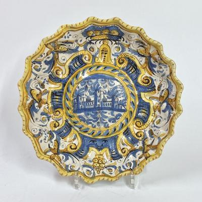 Crespina In Majolica From Deruta - Seventeenth Century