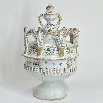 Grande coupe de baptême en faïence Espagnole - XVIIIe siècle