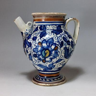Majolica Chevrette From Lyon - First Half Of The Sixteenth Century