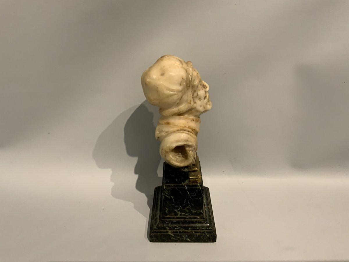 Sculpture En Albâtre Probablement Flamand XVIIème Siècle.-photo-2