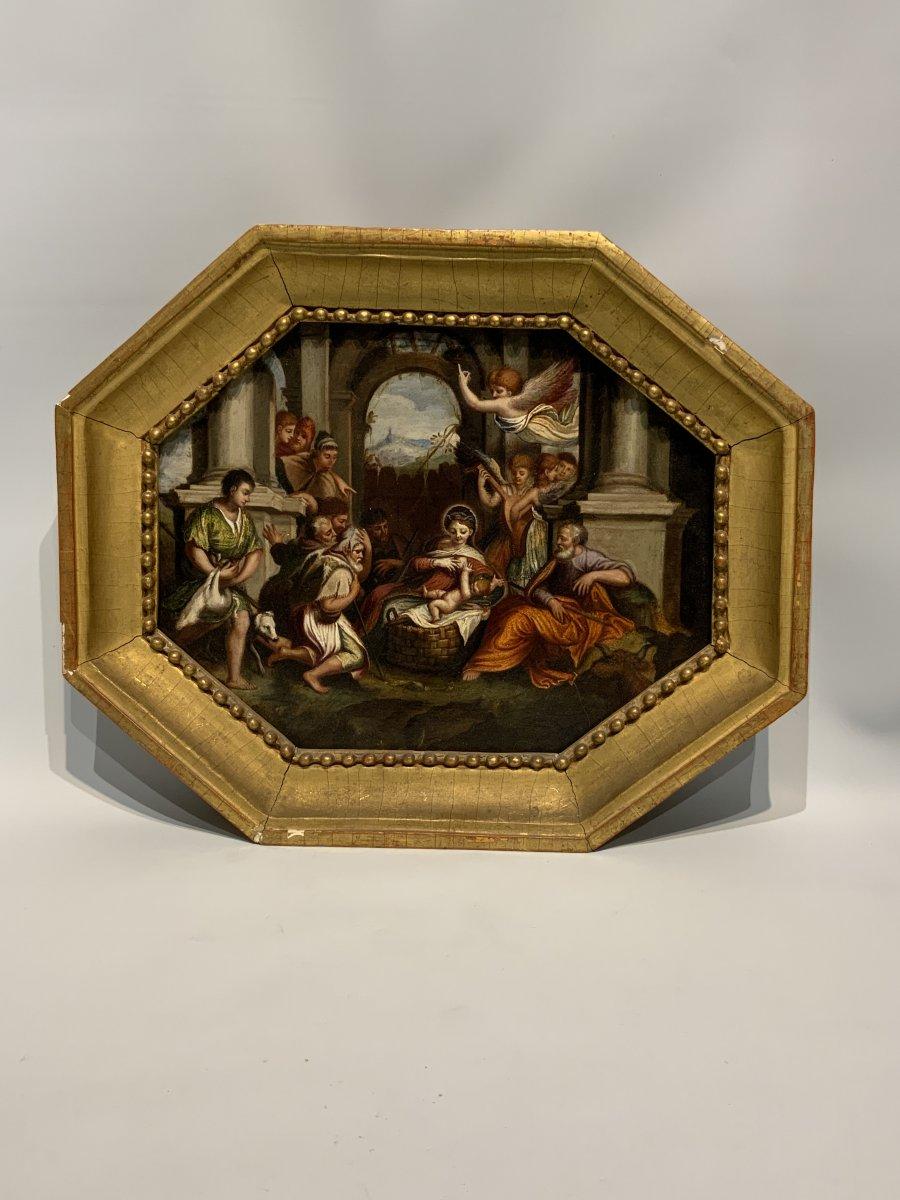 Probablement Italie, Huile Sur Ardoise, XVII/XVIIIème Siècle