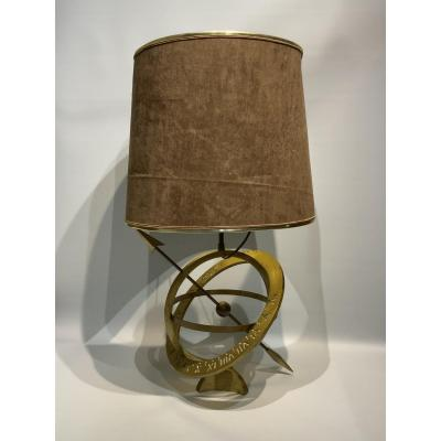 Sundial Shaped Table Lamp