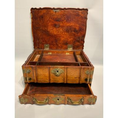 Indonesia Or Sri Lanka. Wooden Colonial Dutch Travel Box.
