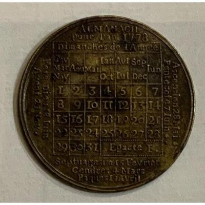 Eighteenth Century Copper Almanac Calendar