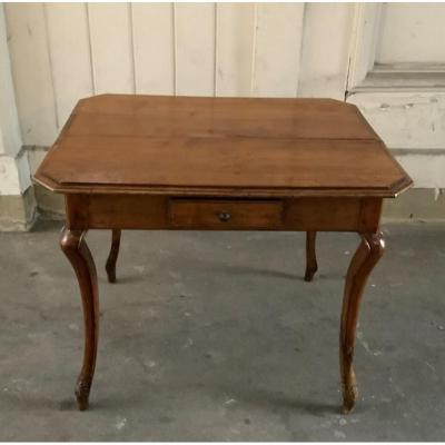 Wooden Table With Four Drawers France XVIIIth Century