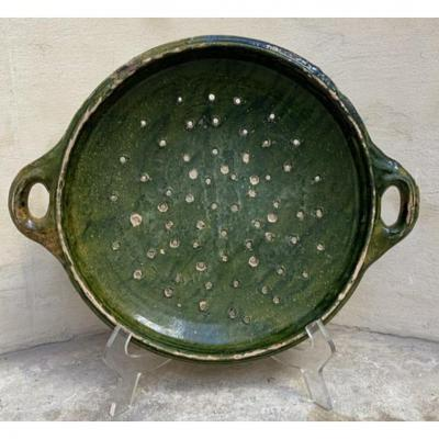 Holland XVIIIth Strainer In Glazed Earthenware