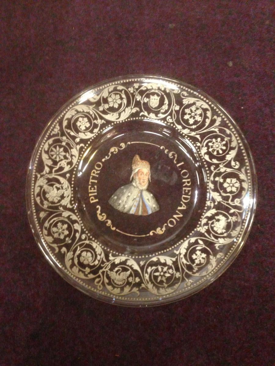 Old Flat In Italian Enamelled Glass