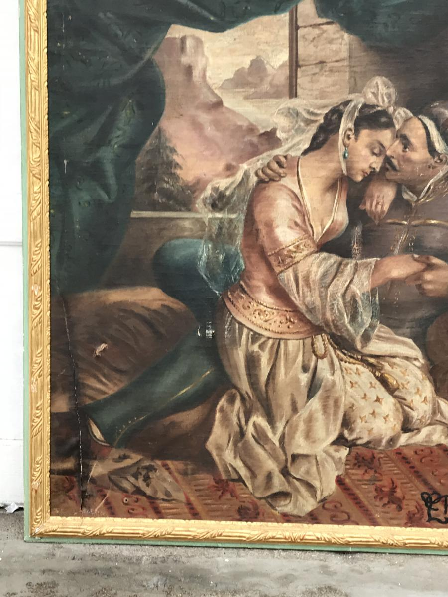 Orientalist Painting Turkey Signed E Robitaille 19th-photo-3