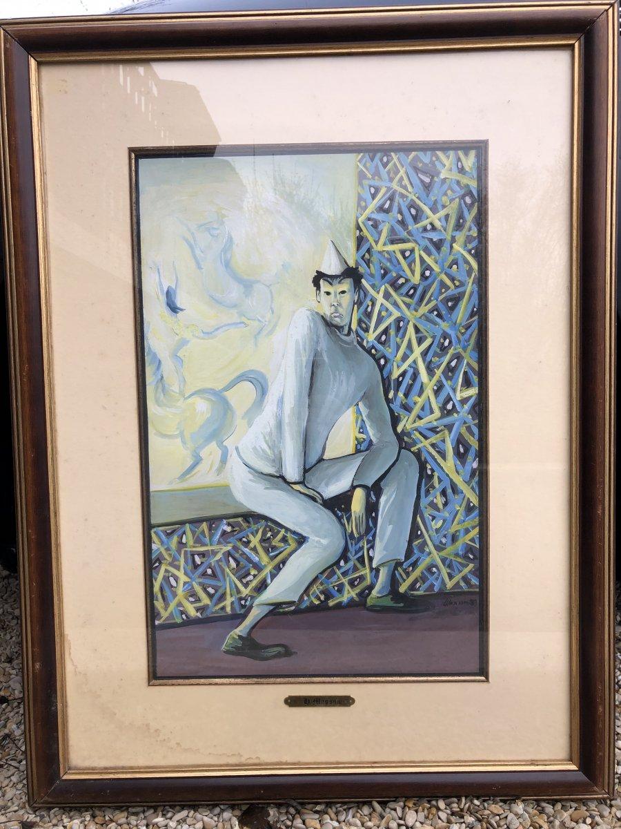 Henri Léopold Masson (1907-1996) Le Clown Triste