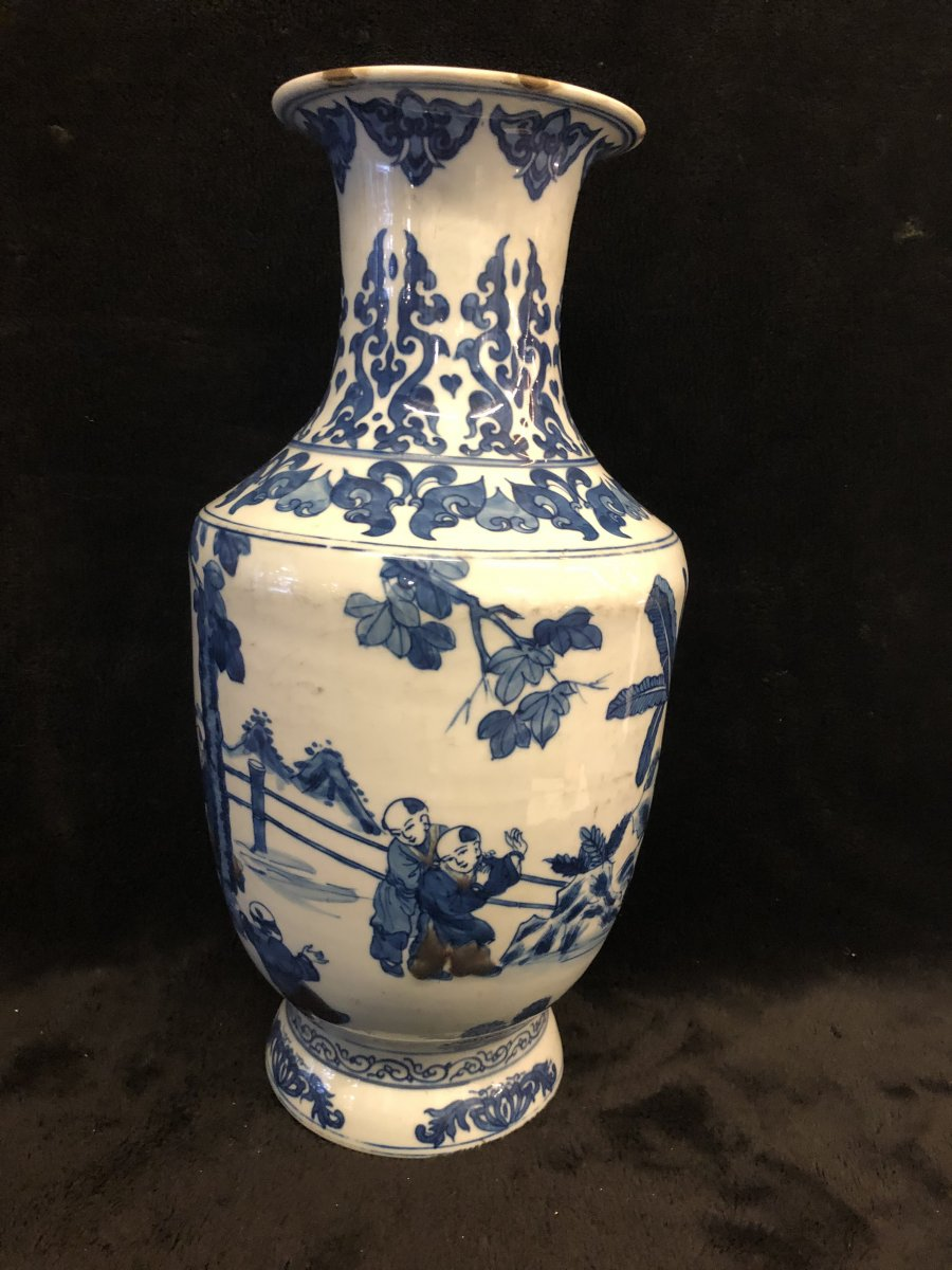Old Chinese Vase Late Nineteenth H: 48 Cm